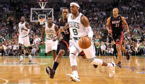 Rajon Rondo conduziu os Celtics à mais uma vitória sobre o Heat na série