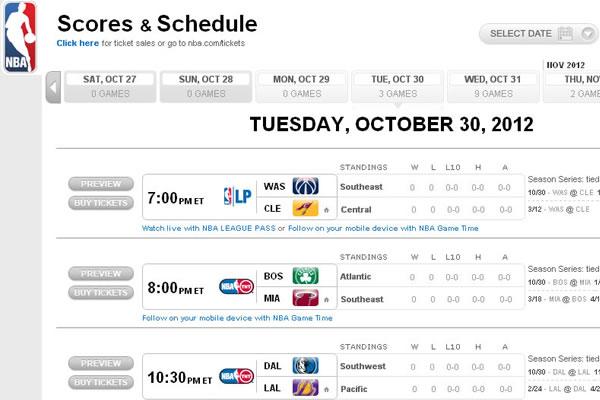 A NBA divulgou o calendário da temporada 2012/2013.